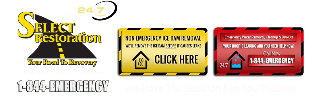Select Restoration Ice Dam Removal Services Macomb County Mi